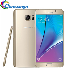 Лучшие Оригинальный разблокирована Samsung Galaxy Note 5 N920A note5 4 ГБ Оперативная память 32 ГБ Встроенная память 16mp 5.7 дюймовым Octa core 2560×1440 4 г LTE мобильный телефон