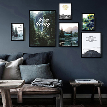 Canvas Painting Forest Mountain Landscape Minimalist Wall Art Nordic Modern Posters Prints Pictures Living Room Decoration