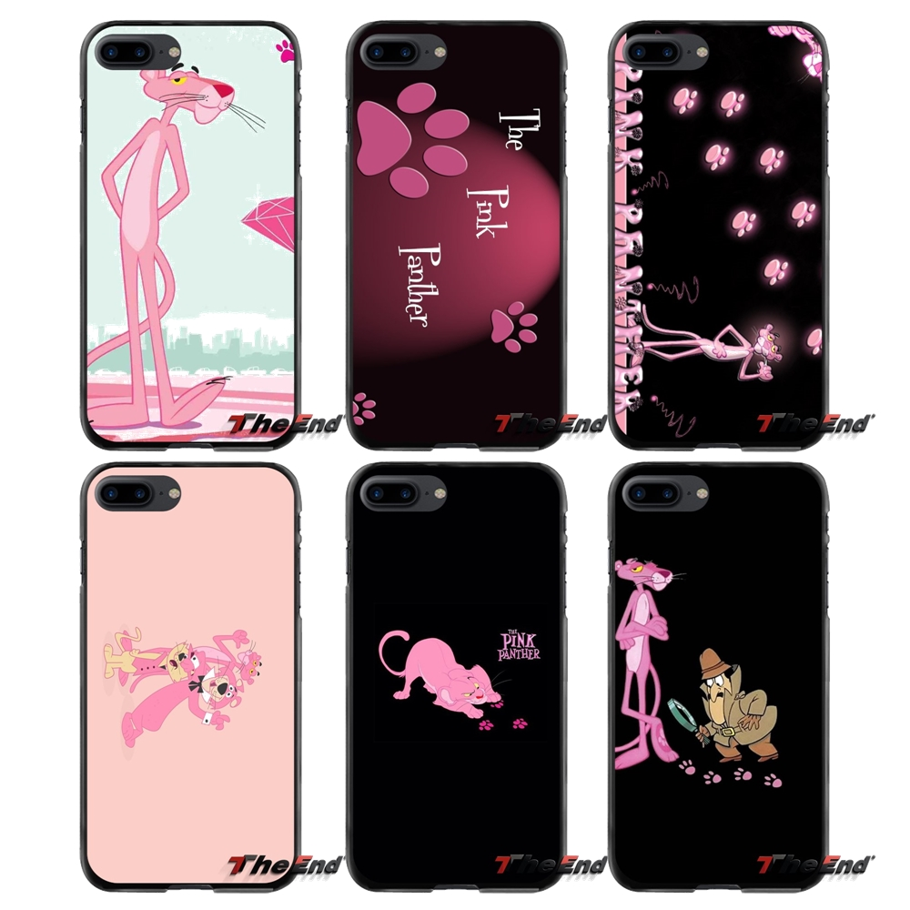 For Apple iPhone 4 4S 5 5S 5C SE 6 6S 7 8 Plus X iPod Touch 4 5 6 Accessories Phone Shell Covers Pink Panther