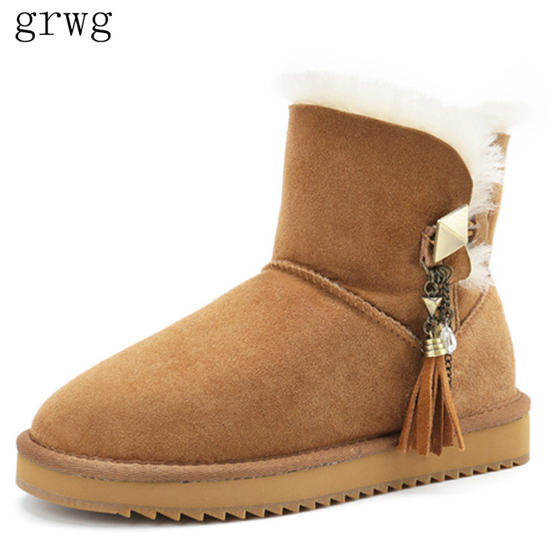 grwg  Women Shoes Bowknot Nature Fur Wool Real Sheepskin Leather Classic Snow Boots Genuine Sheepskin Women Bootsgrwg  Women Shoes Bowknot Nature Fur Wool Real Sheepskin Leather Classic Snow Boots Genuine Sheepskin Women Boots