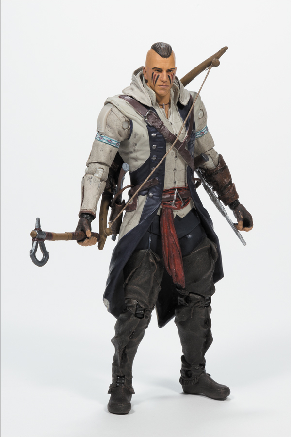 "Assassins Creed 4 Black Flag Connor with AVEC CON MOHAWK PVC Action Figure Collectible Toy 6"" 15CM"