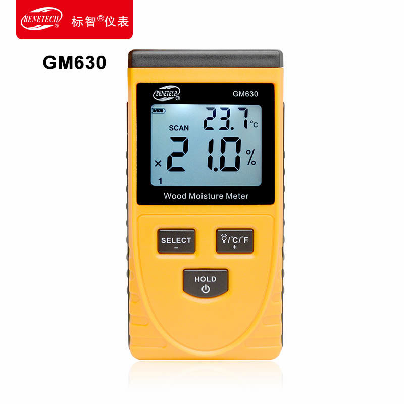 Digital Wood Moisture Meter Portable Digital Timber Moisture Meter Damp Detector Tester Tool Professional Wood moisture tester mc 7806 wood moisture meter detector tester thermometer paper 50% wood to soil pin