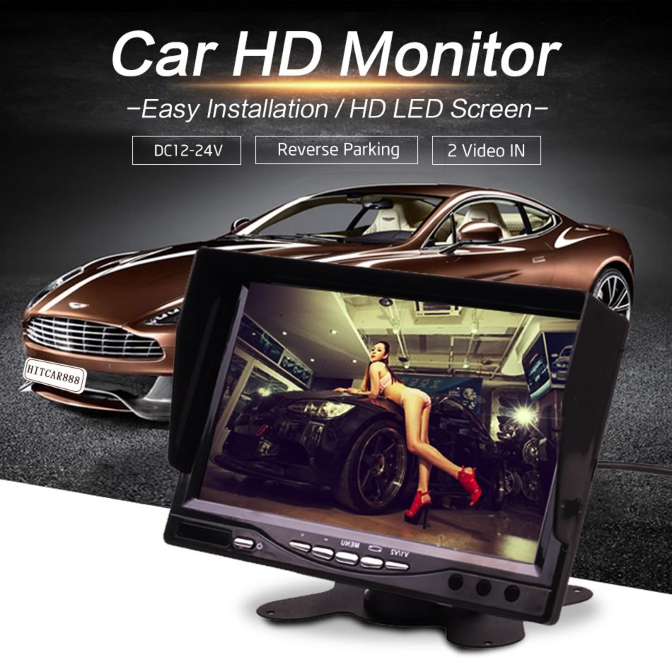 Car Truck BUS 4.3 / 5 / 7 / 9 Inch HD TFT LCD LED Stand Monitor Screen with Rear View Reverse Backup Camera Parking Kit Combo