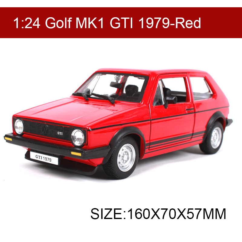 BBURAGO 1979 Glof GTI MK1 1:24 Alloy Model Metal Racing Vehicle Play Collectible Models Sport Cars toys For Gift
