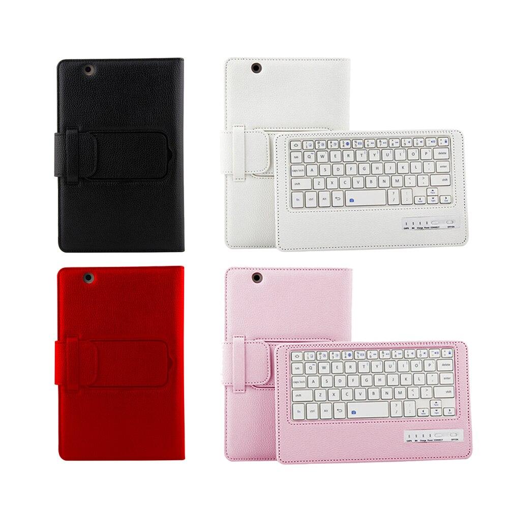 цена на Magnetic Wireless Bluetooth Keyboard Folio Leather Case Coverwith Sleep/lock/slideshow function For Huawei MediaPad M3 8.4inch