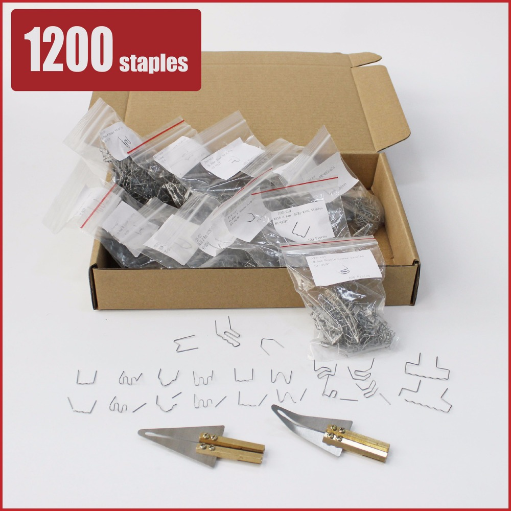 pre cut hot stapler staples 0.6mm 0.8mm flat wave inside corner outside corner slot curved w v m plastic repair system bumper цены