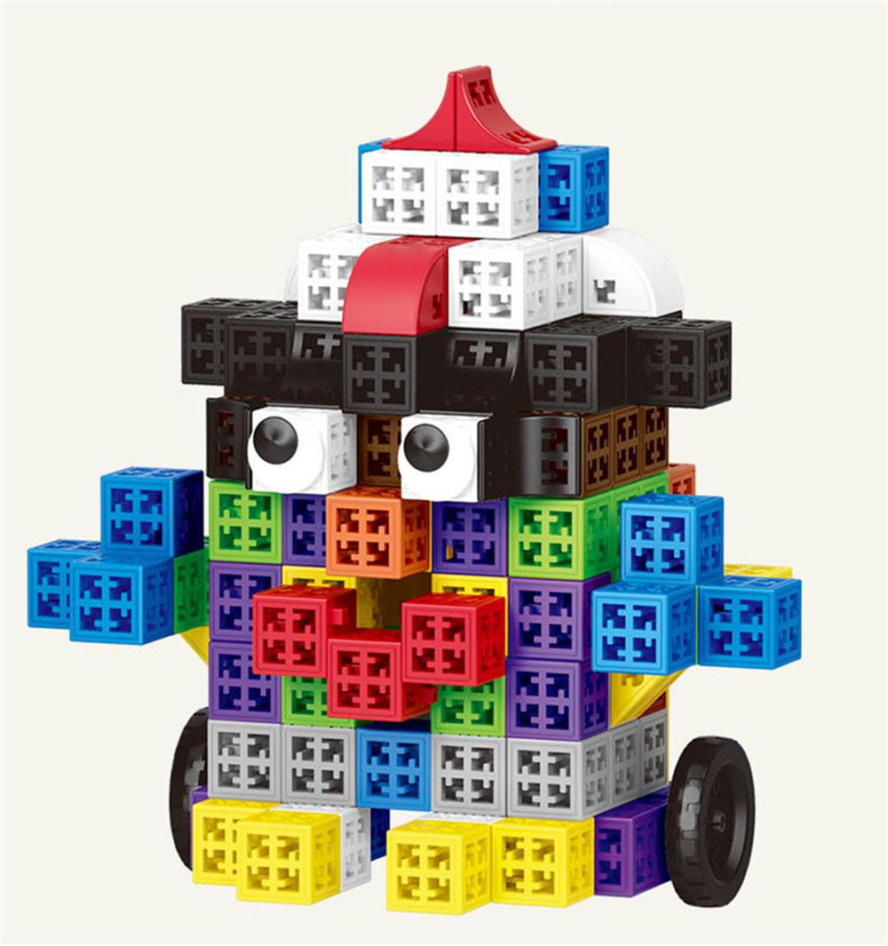 34/48/88/138/188pcs Blocks Cubes Unit Plastic Interlocking Construction Model Building Set of Early Educational Toys For Child 6