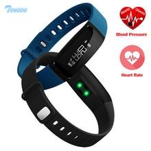 Модные Смарт-браслет V07 Presión arterial Смарт часы Шагомер Смарт-браслет сердечного ритма Monitores SmartBand Bluetooth Фитнес