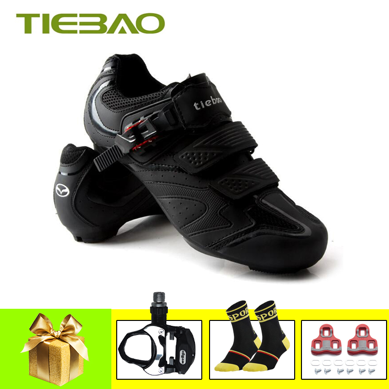 TIEBAO sapatilha ciclismo bicicleta road bike shoes 2019 self locking SPD SL pedals cycling sneakers Breathable zapatos ciclismo|Cycling Shoes| |  - title=