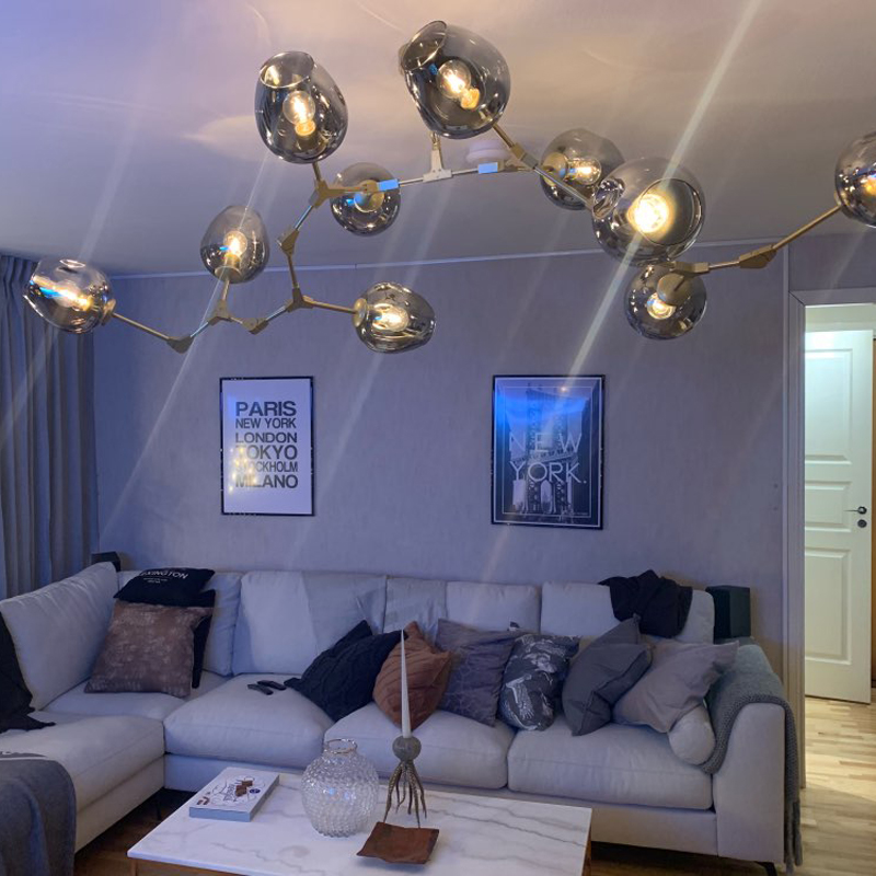 3/5/6/7/8/9/10 Branching Bubble Chandelier 110v 220v Modern Chandelier Light Lighting Living Room Pendent Lamp