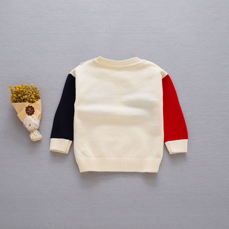 New-Autumn-Girls-Boys-Kids-Baby-Infants-Long-Sleeve-Block-Color-Outwear-Pullover-Knitwear-Kintting-Sweater-Camisola-Tops-MT1277-5