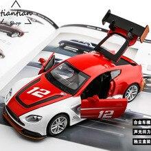 1:32 сплава Модель автомобиля Aston Martin дверь может быть открыт вернуться к власти и звук детские игрушки автомобиля