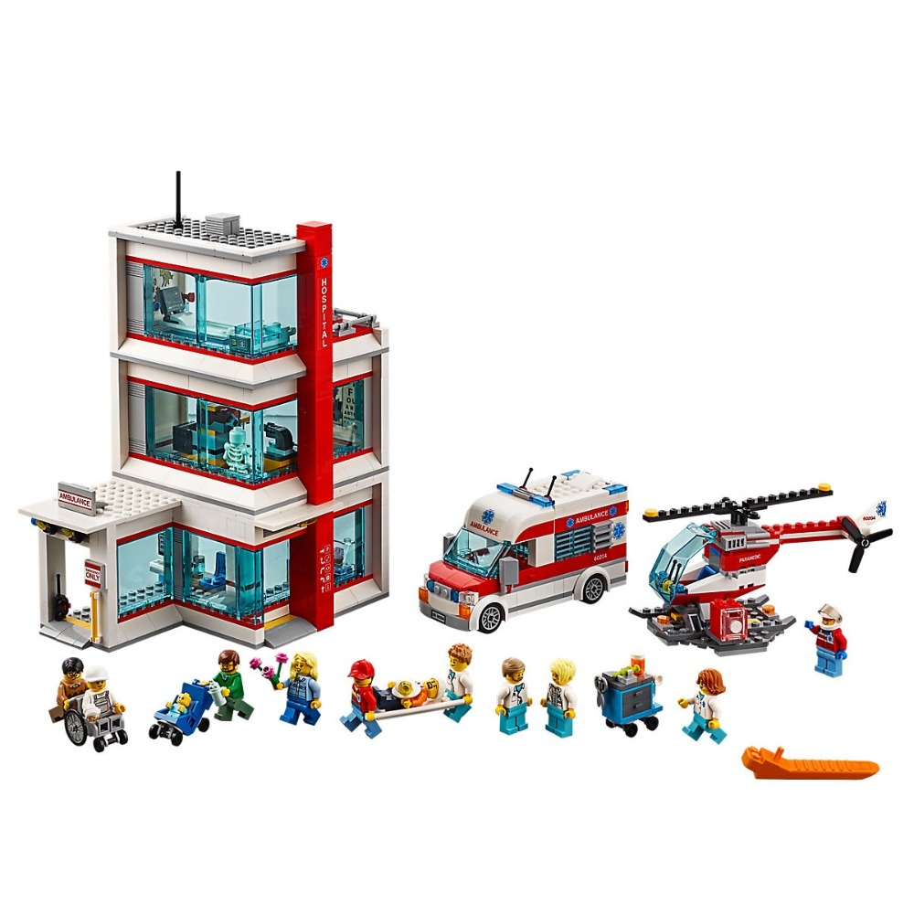 City Hospital Compatible Legoe City Town 60204 Building Blocks toys for Childrens Bricks Model Kid Gift 964Pcs