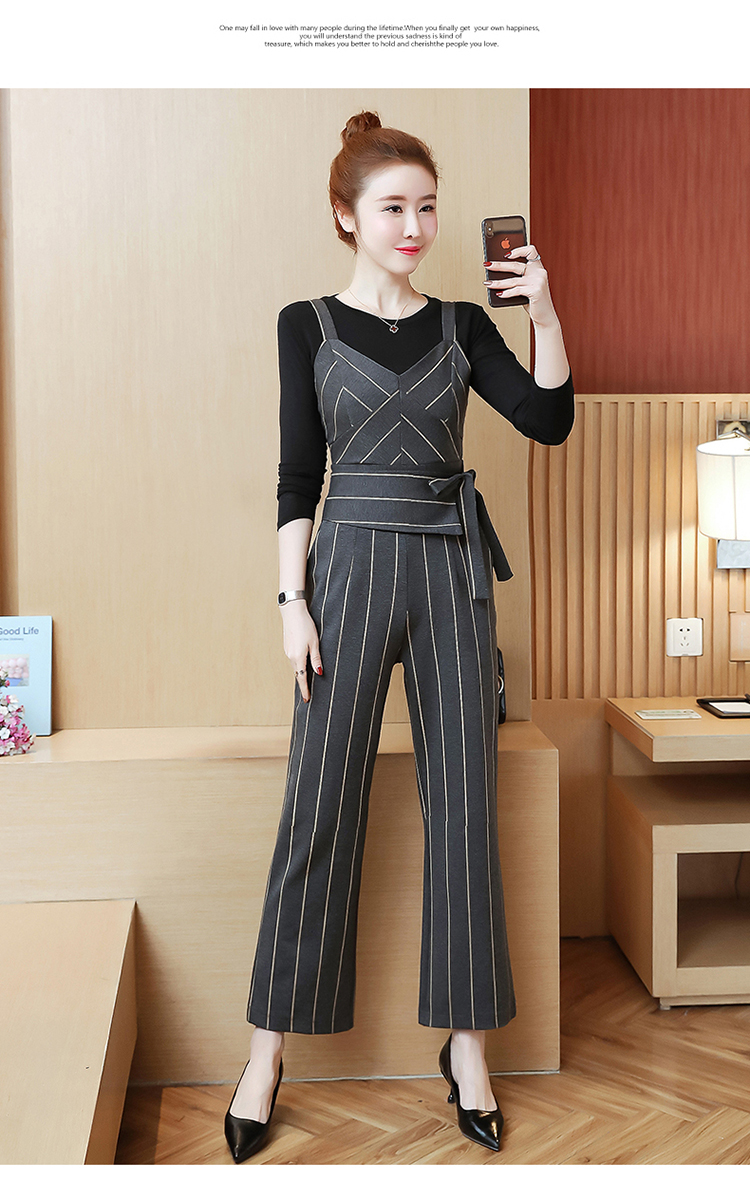 YICIYA Women outfits tracksuit sportswear Striped top and bib pants suits 2 piece set co-ord set OL Office 2019 bodycon clothing 22