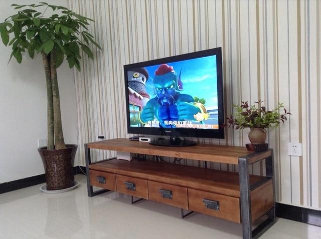 Hierro americano Retro de madera mueble TV gabinete caja fuerte ...