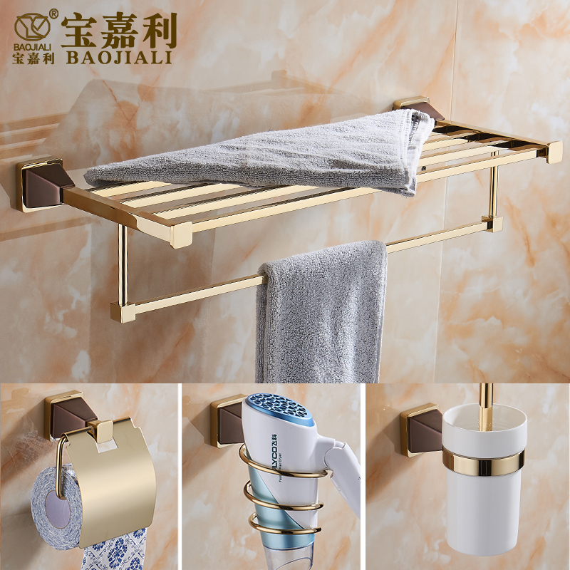 Foldable Antique Copper Bath Towel Rack Wall Mount Active Bathroom Towel Holder Double Towel Shelf Bathroom Accessories Sj6 batroom golden crystal double cup holder bathroom double cup rack holder hardware bath sets bathroom accessories