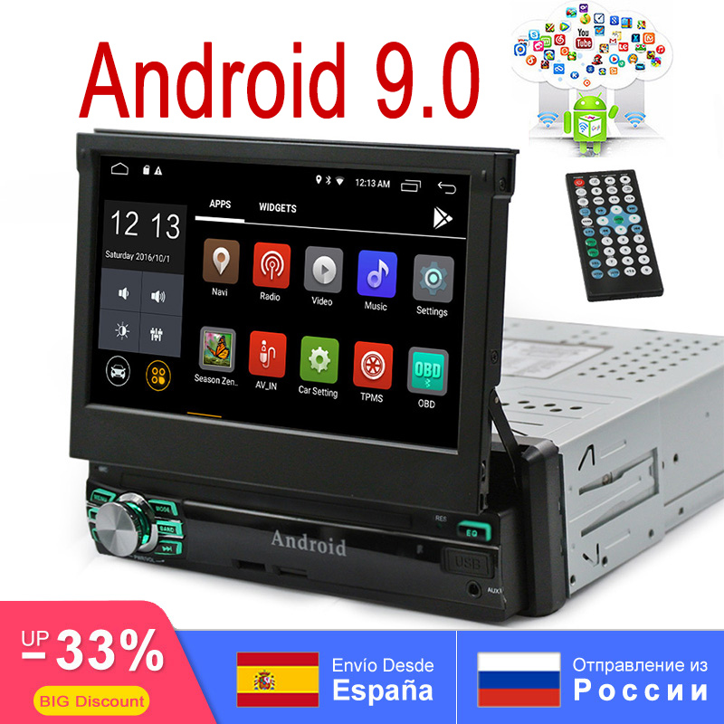 Android 9.0 2 GB RAM 16G ROM universel 1Din AutoRadio GPS stéréo 7