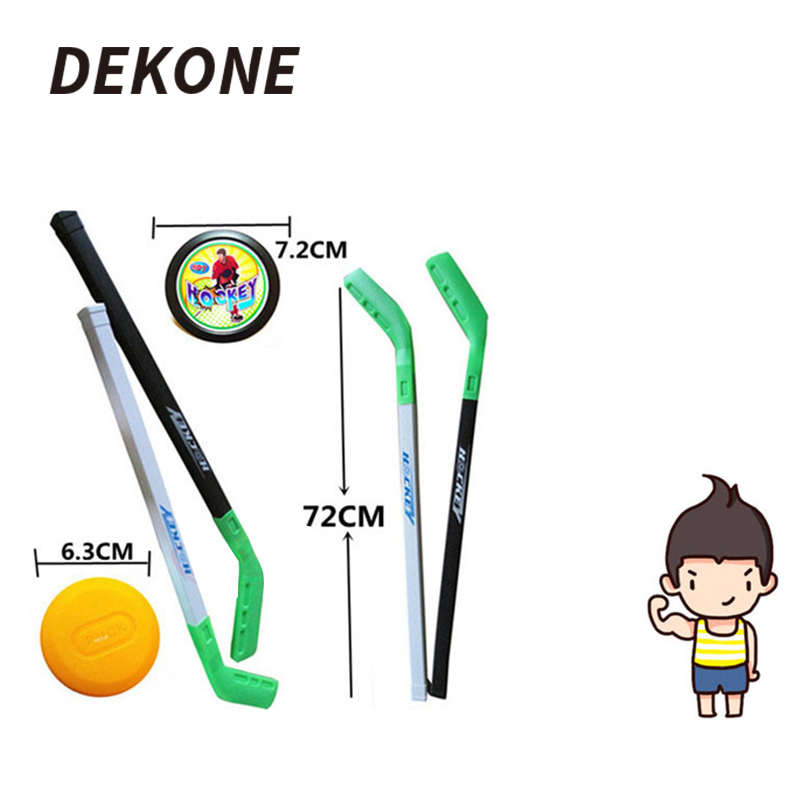 Hockey Stick Toy Set Plastic Outdoor Sports Game Toy For Children Family Entertainment Friends Gathering Gifts Mini Hockey Set