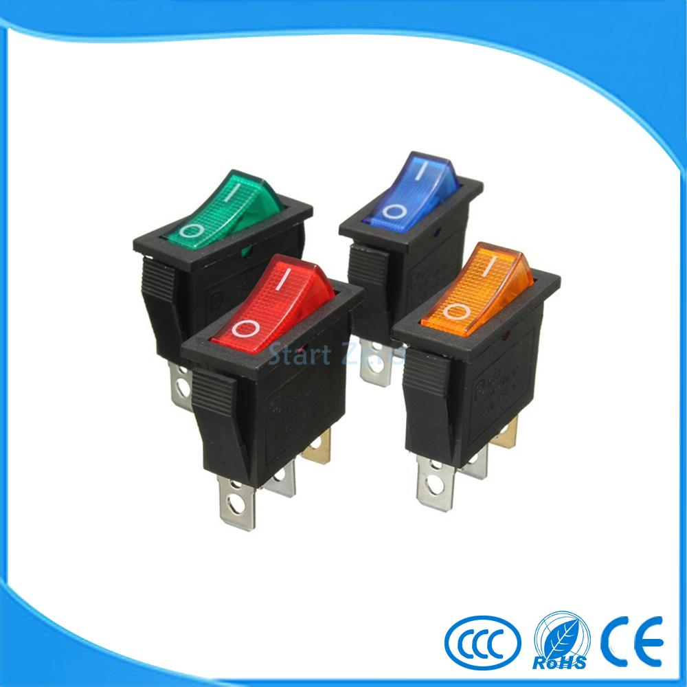 On-Off 3Pin DPST Rocker Switch 15A/20A 250V/125VAC 5pcs lot high quality 2 pin snap in on off position snap boat button switch 12v 110v 250v t1405 p0 5