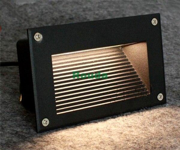 160*110mm Recessed Led Floor Lights 3w 5w Stair Lighting Led Step Light  Waterproof Outdoor