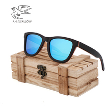 Fashion Ladies Sunglasses New Ebony Sandwich UV400 Handmade Bamboo Retro Mens Chaozhou Driving Polarizer