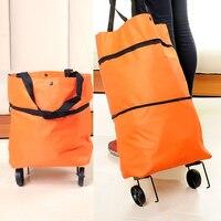 Folding Travel Trailer Receive Bag Portable Shopping Bag Tension Bar Car Luggage Carts