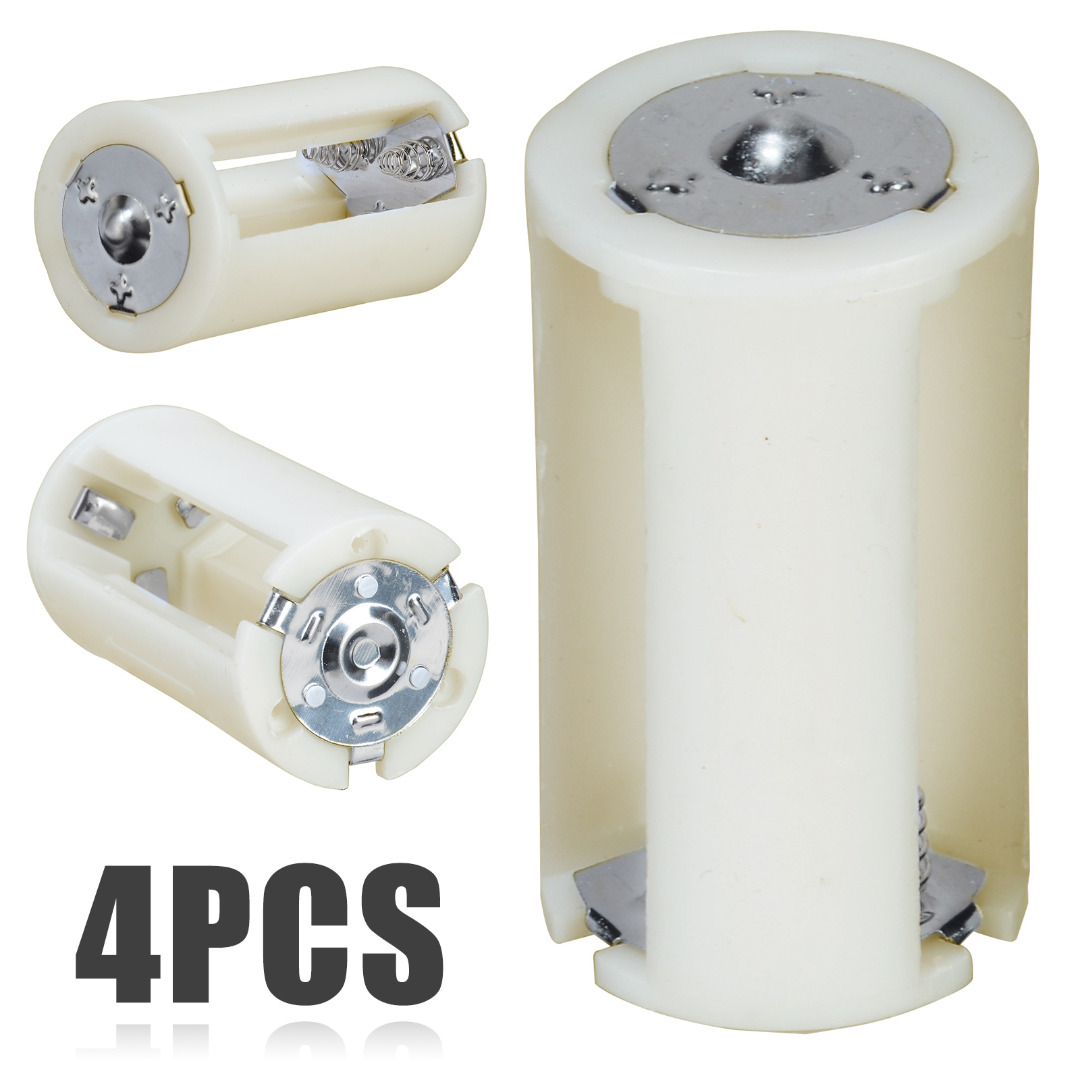 4pcs New Arrival Battery Box 3x AA to D Size Battery Adapter Converter Holder Switcher Case Box for Battery Storage