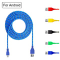 1M 2M 3M Nylon Braided phone Charger Micro USB Cable Data Sync Charging Cable for Android Samsung Galaxy Sony LG