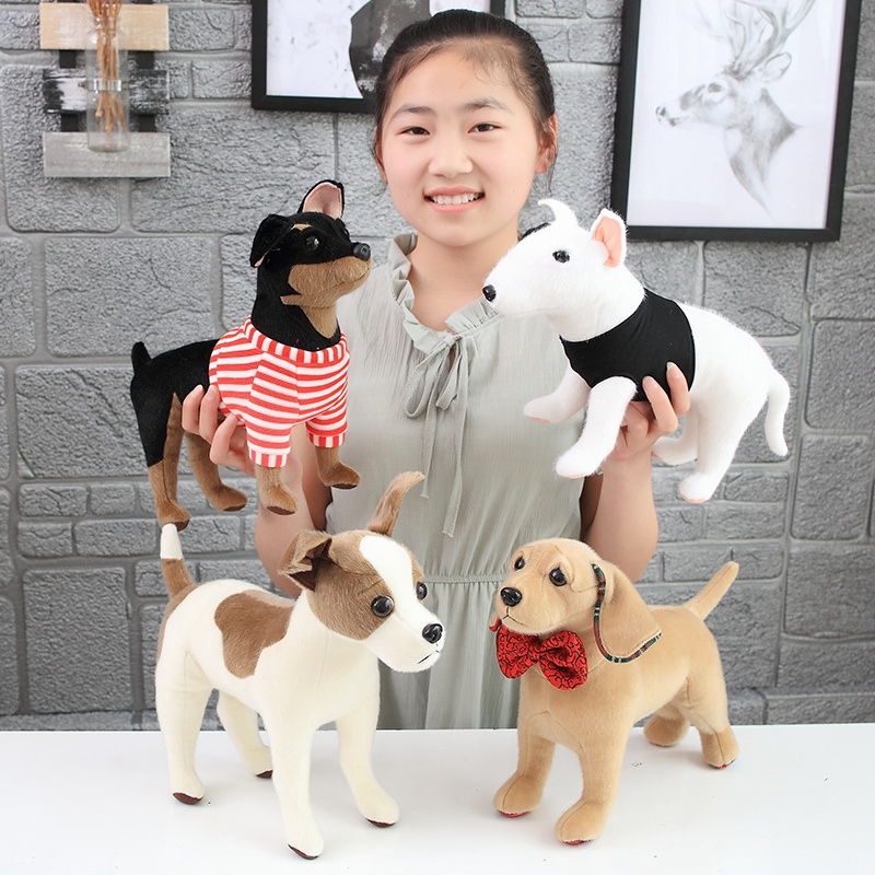 High Quality Simulation Dog Plush Toy Chihuahua Bulldog Shar Pei Pet Dog Kids Baby Birthday Present Soft Stuffed Plush Toy