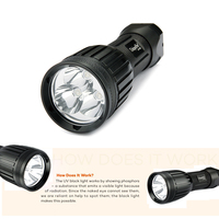 UniqueFire 1408 UV385 390nm UV Led Flashlight Rechargeable Ultraviolet Lamp Torche 18650 26650 For Pets Urine