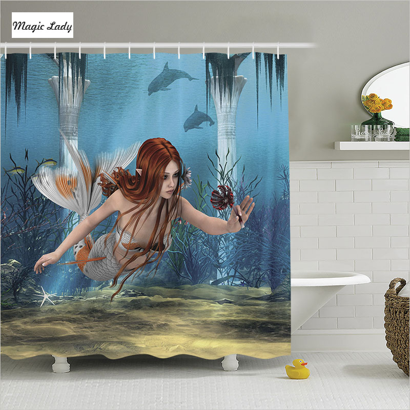 Home Decorators Collection Coupon Free Shipping: Shower Curtain Mermaid Bathroom Accessories Decor