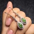Certificated 100% natural perfect green jade earrings for women Chiristmas present natural 4.5*5mm womens earrings