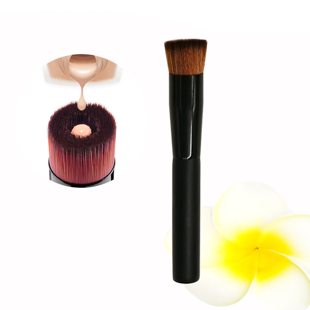 1 pcs Portable Fondation Liquide de Maquillage Brosse Manche En Bois Contour Fondation Poudre Liquide Crème Brosses Cosmétiques Outil