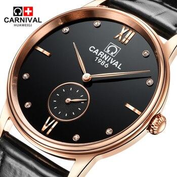 58d6ec8f9582 Карнавал ультра-тонкий Для мужчин s часы лучший бренд Роскошный ...