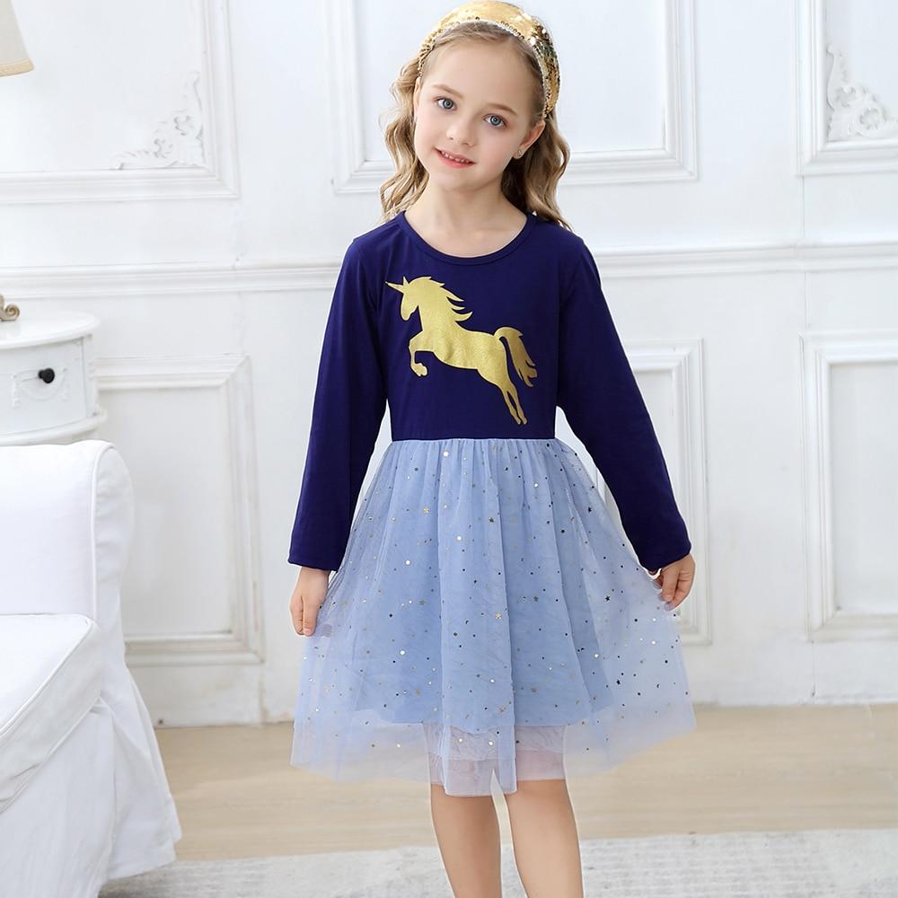 Toddler Girl Dresses Princess Costume A-Line Cartoon Cotton Kids Dresses for Girls Clothes Autumn Winter Costume for Children