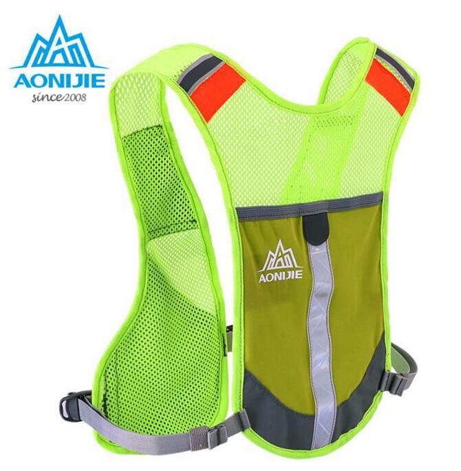Prix pour AONIJIE Sport de Course Sac Marathon Randonnée Camping Réglable Réfléchissant Gilet Sac À Dos Maille Légère Bouilloire Sac