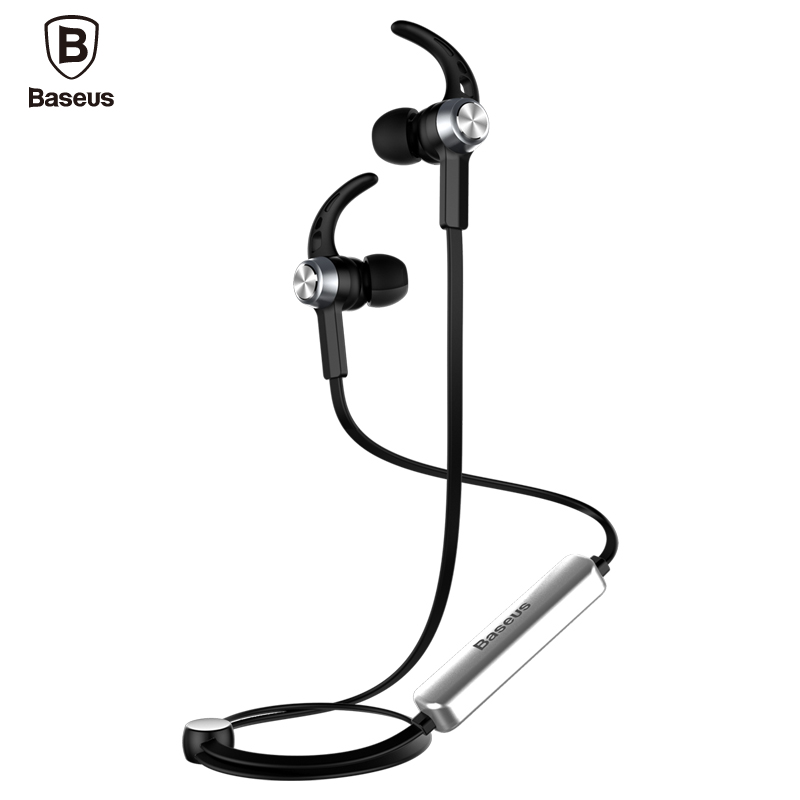 Baseus Magnetic Bluetooth Earphone Wireless Sport Running Headset with Mic Stereo In Ear Earbuds Headset For MP3 MP4 Earpiece  wireless music bluetooth headset 4 mini head wear sport ear hanging ear type 4 1 universal running stereo can insert card radio