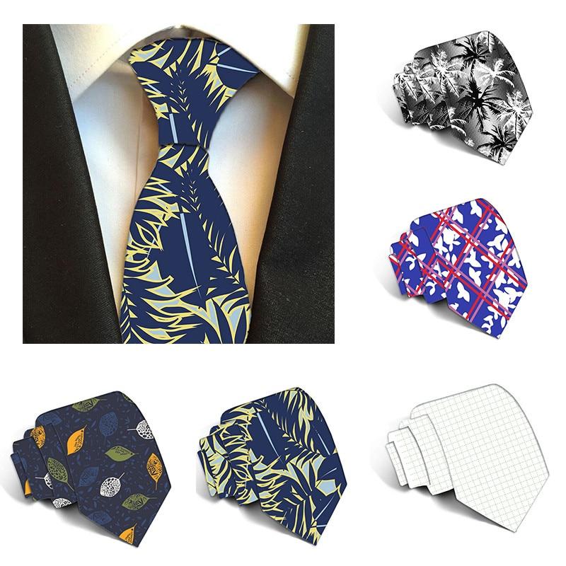 New Arrival Men's Ties Square Maple Leaf Pattern Mens Wedding Neckties 8cm Necktie Business Silk Ties For Men Tie 8ZJQ-LD11