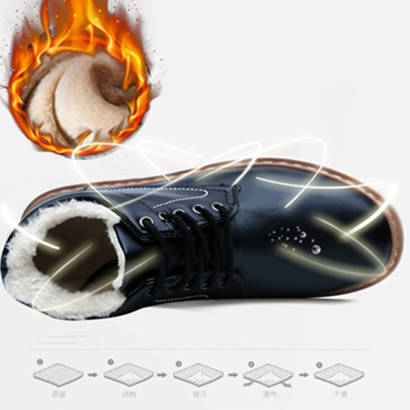 De Mano Los Casual Alta Calidad Dentro Hombre Planos Black Cálido A Invierno Mocasines Hechos gray Felpa Zapatos 2018 Hombres Botas Para antAB0x