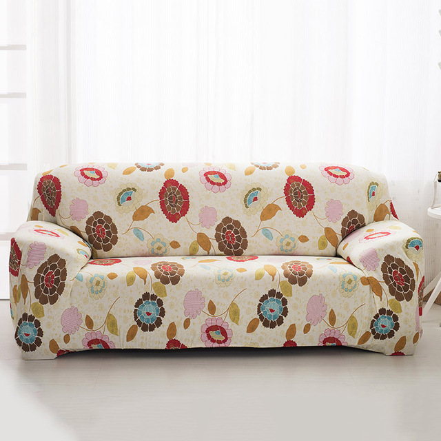 New Stretch Sofa Cover Reversible Furniture Protector Elastic Strap