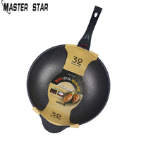Master Star 30/32cm Aluminum Alloy Non stick Woks Picnic Camping Home Wok deep Frypan Cookware Kitchen Pot No coating