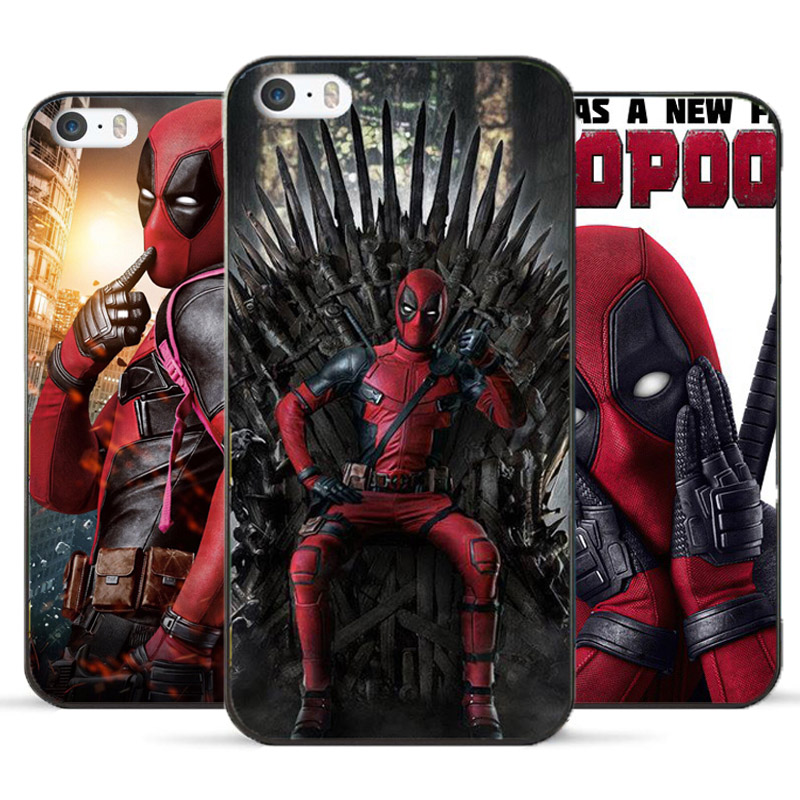 buy online 2d970 70148 For iPhone5 5S SE 6 6S cases Deadpool hard PC cover for fundas iPhone 5S 6S  case new arrivals coque for iPhone5 SE 6 wholesale