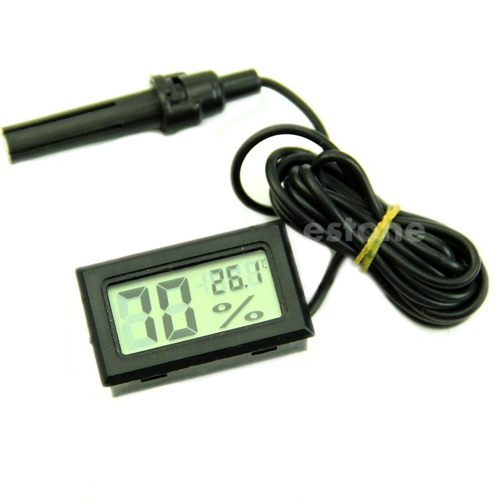 Mini Digital Lcd Thermometer Kelembaban Meter Gauge Suhu Hygrometer Termometer Putih Display