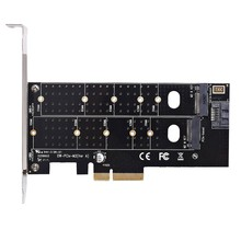 Dual M.2 Pcie Adapter, M2 Ssd Nvme (M Key) Or Sata (B Key) 22110 2280 2260 2242 2230 To Pci-E 3.0 X 4 Host Controller Expansio(China)