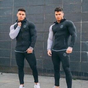 Image 4 - Man Running Sets Men Sport Suits Hoodies Pants Sets Sweatshirt Sweatpants Sportswear Gym Fitness Tracksuit Male Casual Joggers