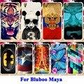 Macio TPU Casos de Telefone Celular Para O Caso Bluboo Maya Tampas Da Carcaça capitão américa batman panda tigre pintado shell para bluboo maya case