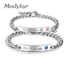 Modyle – Bracelets son roi, sa reine, Couple, avec pierre CZ, petite amie, bijoux de mariage, livraison directe, nouvelle collection 2020