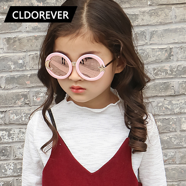 146e0cbe4fea3 Fashion 2018 Polarized Kids Sunglasses Brand Cute Moon Star Children  Sunglass Round Sun Glasses For Girls Boys Baby Goggles