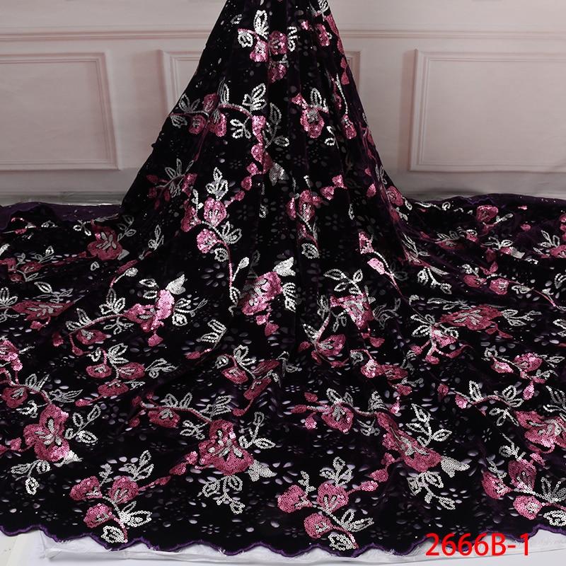 Ev ve Bahçe'ten Dantel'de Kadife dantel kumaş elbiseler son nijeryalı fransız tül dantel ile payet yüksek kalite afrika payetler dantel kumaş APW2666B 1'da  Grup 1