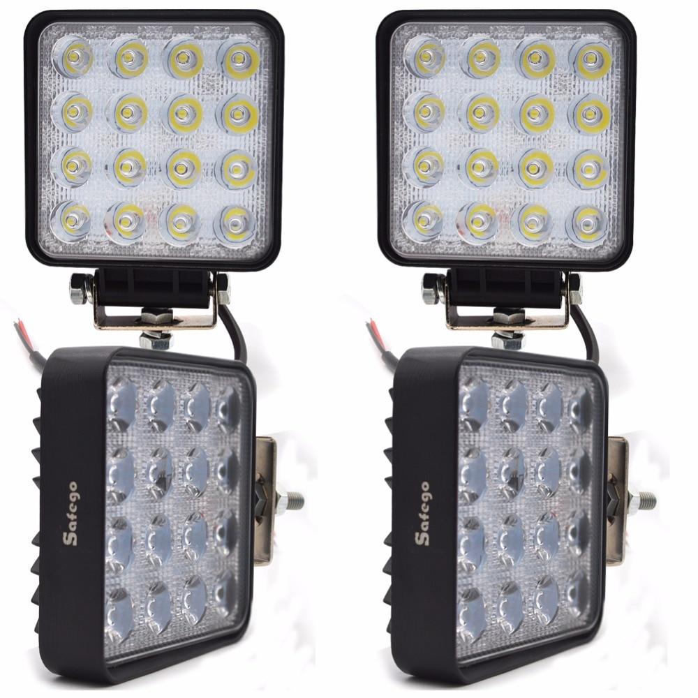 Safego 4ks 4INCH 48 W LED PRÁCE světlo Offroad 4x4 ATV auto LED PRACOVNÍ SVĚTLOMETY JÍZDNÍ SVÍTIDLO 12v 24V 4WD BOAT SUV TRUCK TRAILER